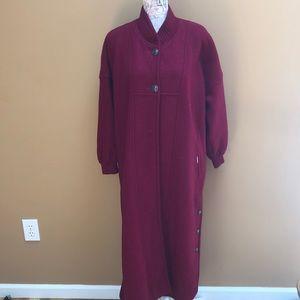 Geiger Austria Full Length Boiled Wool Red Coat 36
